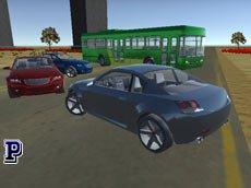 3D Şehirde Araba Sürme