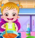 Afacan Bebek Mutfakta