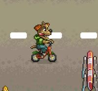Bisikletli Köpek