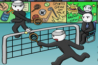Çöp Adam Badminton