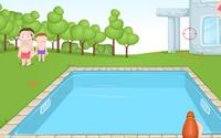 Havuzda Su Tabancası