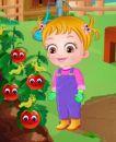 Hazel Bebek Domates Yetiştiriyor