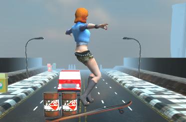 Kaykaycı Kız 3D