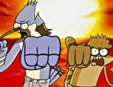 Regular Show Kahramanları Dövüş