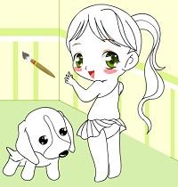 Sevimli Kız ve Köpeği